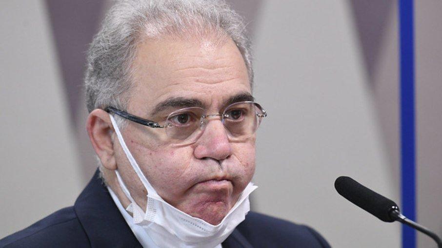 Divulgação/Agência Senado/Jefferson Rudy Ministro da Saúde Marcelo Queiroga em depoimento à CPI da Covid